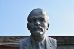 Old monument to Lenin Stock Photos