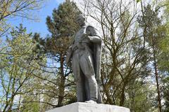 Monument  wars to liberators - stock photo