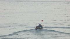 Fishermen go to sea to fish Stock Footage