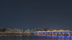 The Hangang river's timelapse in Korea Stock Footage