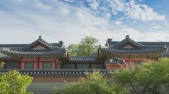 Gyeongbokgung Palace in Korea Stock Footage