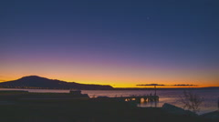 Stock Video Footage of Rotorua Sunset
