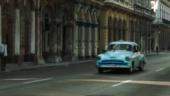 Beautiful architecture and classic american cars in Havana Stock Footage
