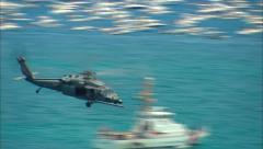 Sikorsky UH-60 Black Hawk Helicopter Fly By Stock Footage