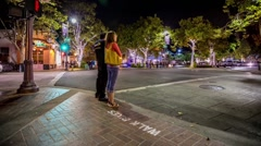 Stanford University Ave. Motion Timelapse Stock Footage