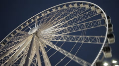 Ferris Wheel Wide Timelapse - stock footage