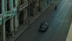 Boulevard in Havana seen from above Stock Footage
