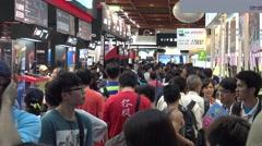 4K Asian People Walking Crowd in the Expo Computer Taipei-Dan Stock Footage
