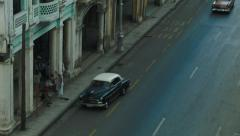 Aerial view of the street in Havana Stock Footage