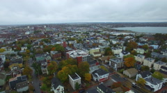 Aerial drone video Portland Maine 2 Stock Footage