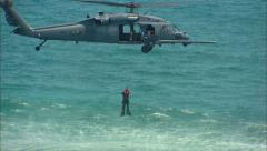 Sikorsky UH-60 Black Hawk Helicopter Seal Team Recovery 2 Stock Footage