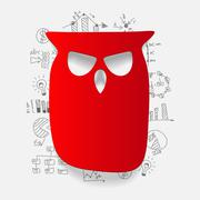 Stock Illustration of Drawing business formulas: owl