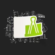 Stock Illustration of drawing business formulas. clip