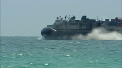US Navy LCAC Maneuvers Right to Left Stock Footage