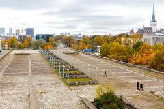 Tallinn. Palace of Culture and Sports. Linnahall. - stock photo