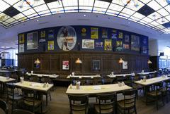 Europe Germany Cologne Köln Koln Koeln interior brewery restaurant - stock photo