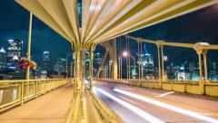 Pittsburgh Motion Timelapse Andy Warhol Bridge Stock Footage