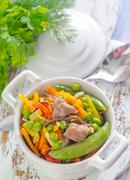Baked vegetables with meat Stock Photos