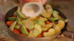 Pumpkin and Apples Casserole - stock footage