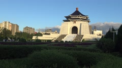 4K beautiful monument, the Chiang Kai-shek Memorial Hall Tourist attraction-Dan Stock Footage