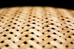 Weave texture wicker surface for furniture material.Center focus. Stock Photos