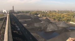 Top view of the coke production Stock Footage