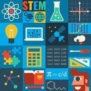 STEM Education - stock illustration