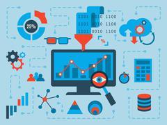 Data Analysis - stock illustration