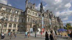 Visiting the City Hall in Paris - stock footage