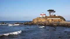 Lighthouse crescent city Stock Footage
