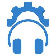 Headset Configuration Flat Icon - stock illustration