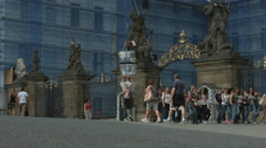 Office of the President of the Republic in Prague Castle Stock Footage