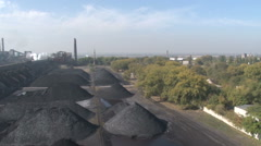 Heaps of coal top view Stock Footage