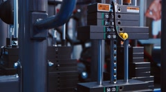 Professional Sport Weights In Gym Stock Footage