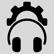 Stock Illustration of Headset Configuration Flat Icon