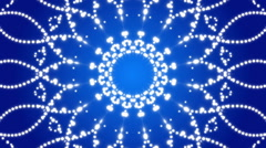 blue abstract background, kaleidoscope, loop - stock footage