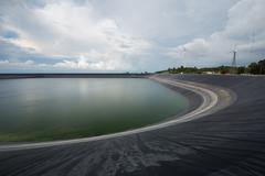 Lam Takong reservoir - stock photo