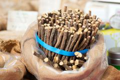 Licorice sticks - stock photo