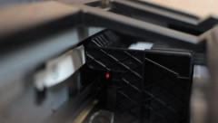 Printer prints a lot of sheets Stock Footage
