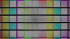 Led Panel Colors Flicker Lights Background - 1080p Stock Footage