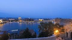 Budapest nightlapse Stock Footage