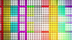 Spectrum Led Panel Flicker Lights Background Stock Footage