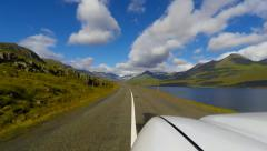 Time-lapse of Iceland road trip Stock Footage