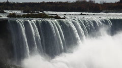 Niagara Falls View From Ontario, Canada With Cascading Water And Mist Arkistovideo