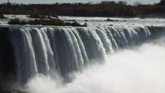 Niagara Falls View From Ontario, Canada With Cascading Water And Mist Stock Footage