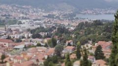 Small town districts view from above. Italy Stock Footage