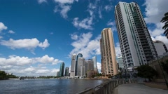 Brisbane City Riverside Day 4K Time Lapse, Australia Stock Footage