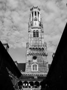 Belfry Tower of Bruges Stock Photos