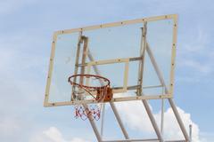 Stock Photo of basketball hoop stand