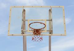 basketball hoop stand - stock photo